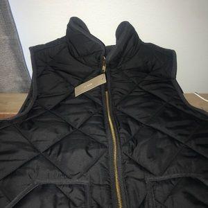 J.Crew navy blue puffy vest